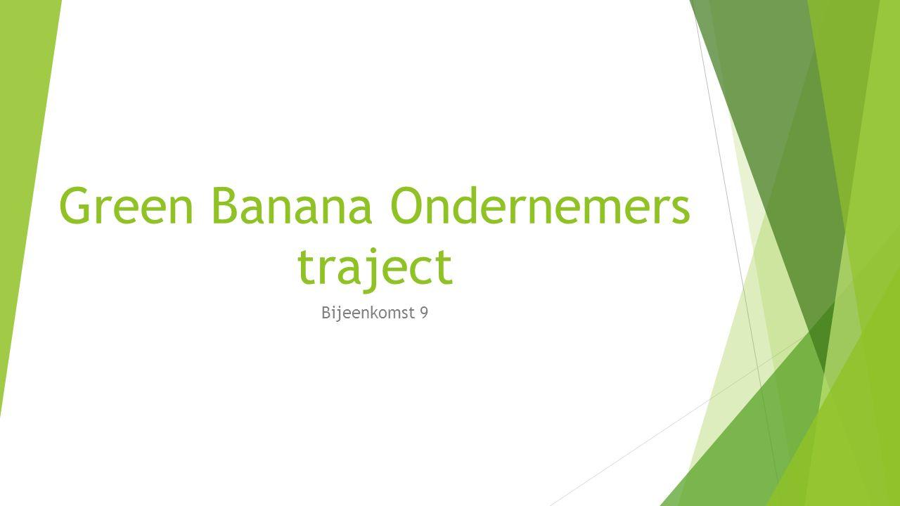 Green Banana Ondernemers traject Bijeenkomst 9
