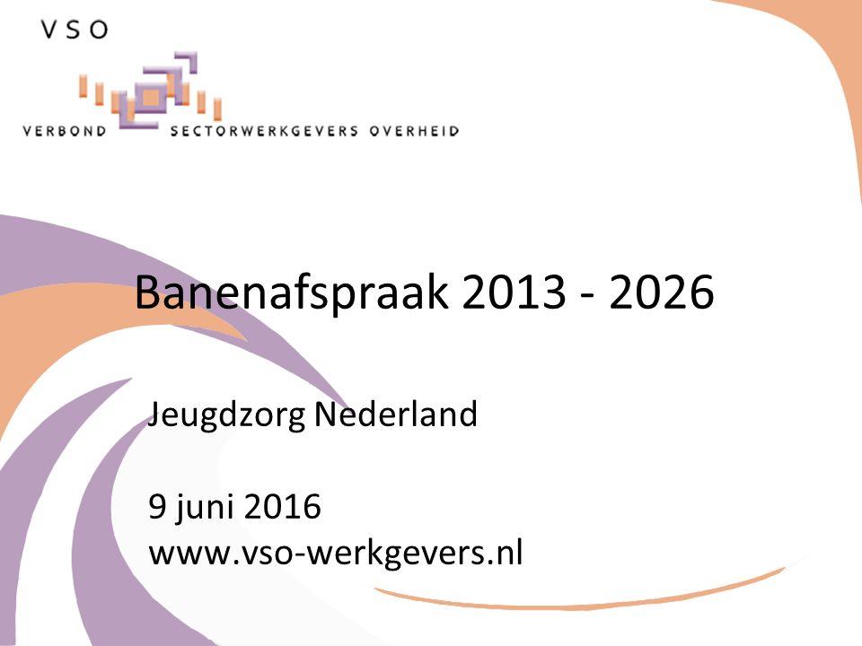 Banenafspraak 2013 - 2026 Jeugdzorg Nederland 9 juni 2016 www.vso-werkgevers.nl