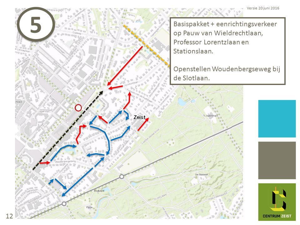 Basispakket + eenrichtingsverkeer op Pauw van Wieldrechtlaan, Professor Lorentzlaan en Stationslaan.