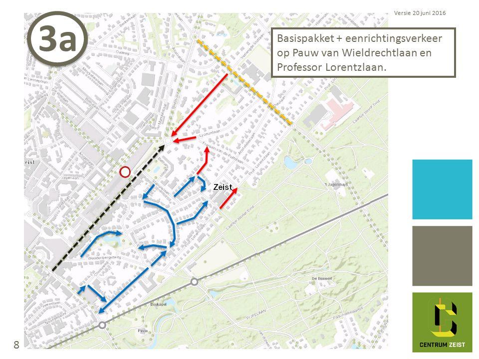 Basispakket + eenrichtingsverkeer op Pauw van Wieldrechtlaan en Professor Lorentzlaan.