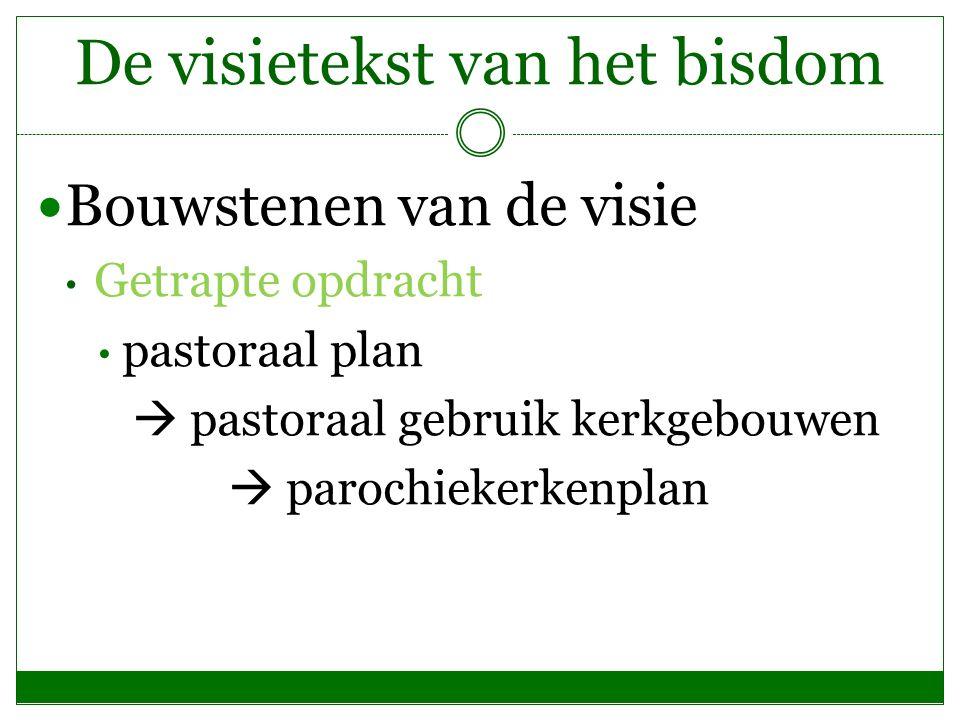 De visietekst van het bisdom Bouwstenen van de visie Getrapte opdracht pastoraal plan  pastoraal gebruik kerkgebouwen  parochiekerkenplan