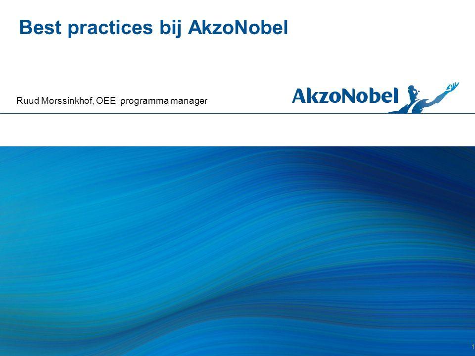 Best practices bij AkzoNobel Ruud Morssinkhof, OEE programma manager 1