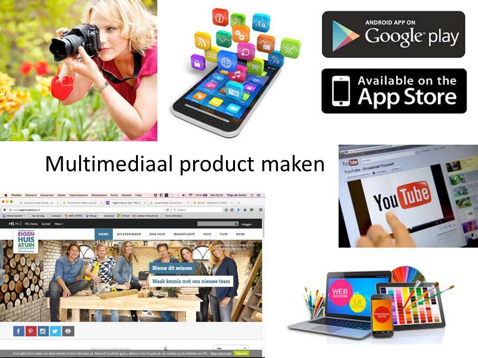 Multimediaal product maken