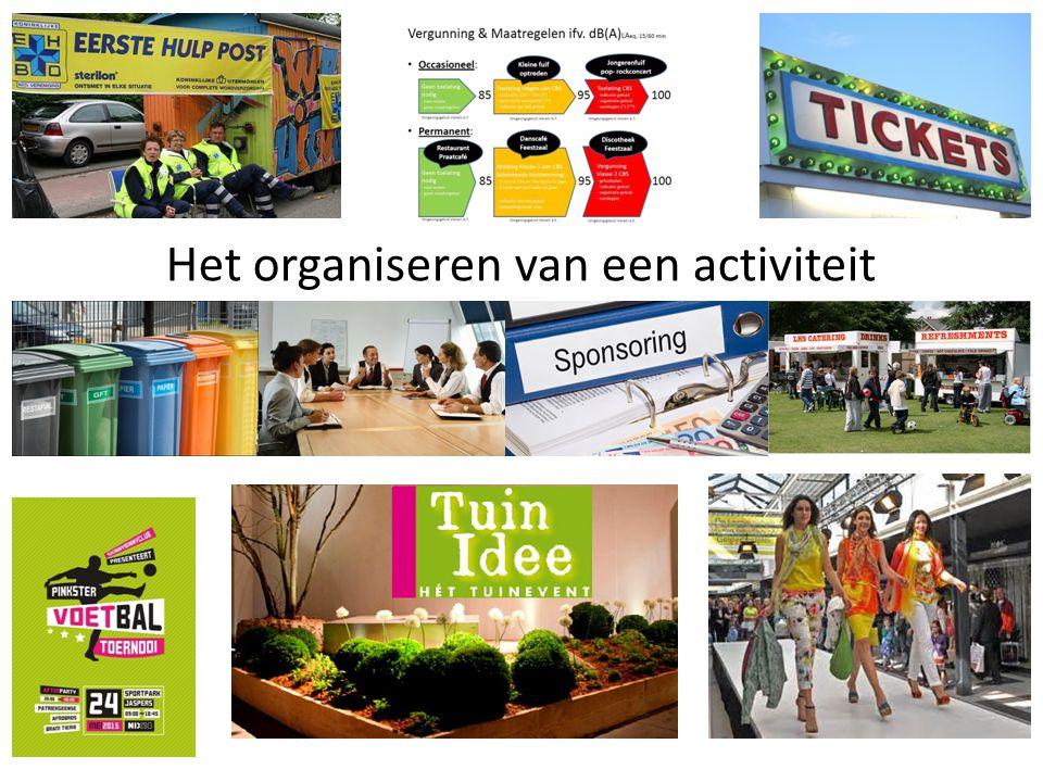 Het organiseren van een activiteit