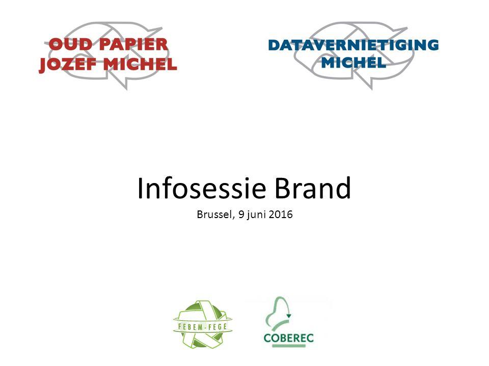 Infosessie Brand Brussel, 9 juni 2016