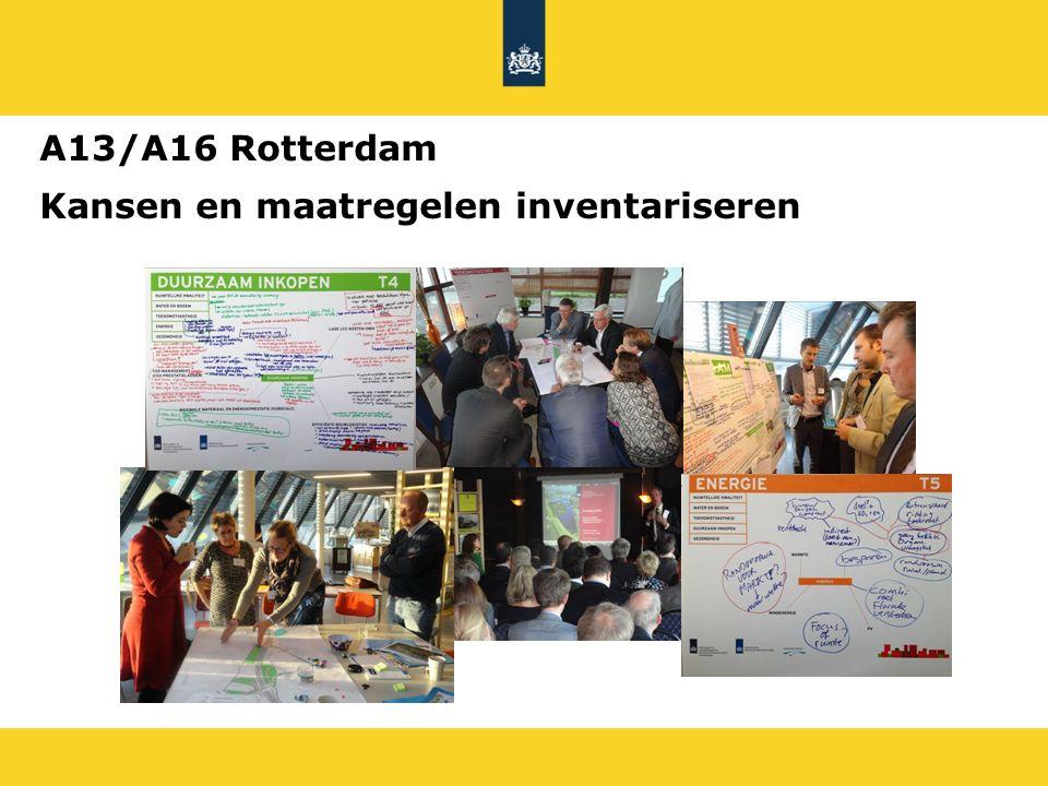 Kansen en maatregelen inventariseren A13/A16 Rotterdam
