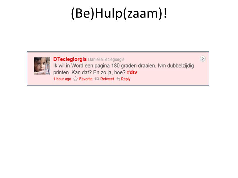 (Be)Hulp(zaam)!