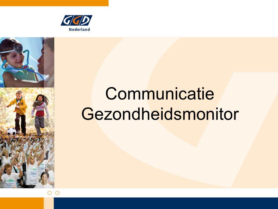 Communicatie Gezondheidsmonitor