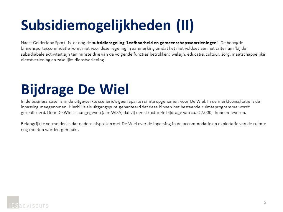 Subsidiemogelijkheden (II) Naast Gelderland Sport.