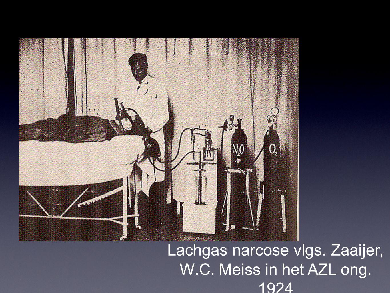 Lachgas narcose vlgs. Zaaijer, W.C. Meiss in het AZL ong. 1924
