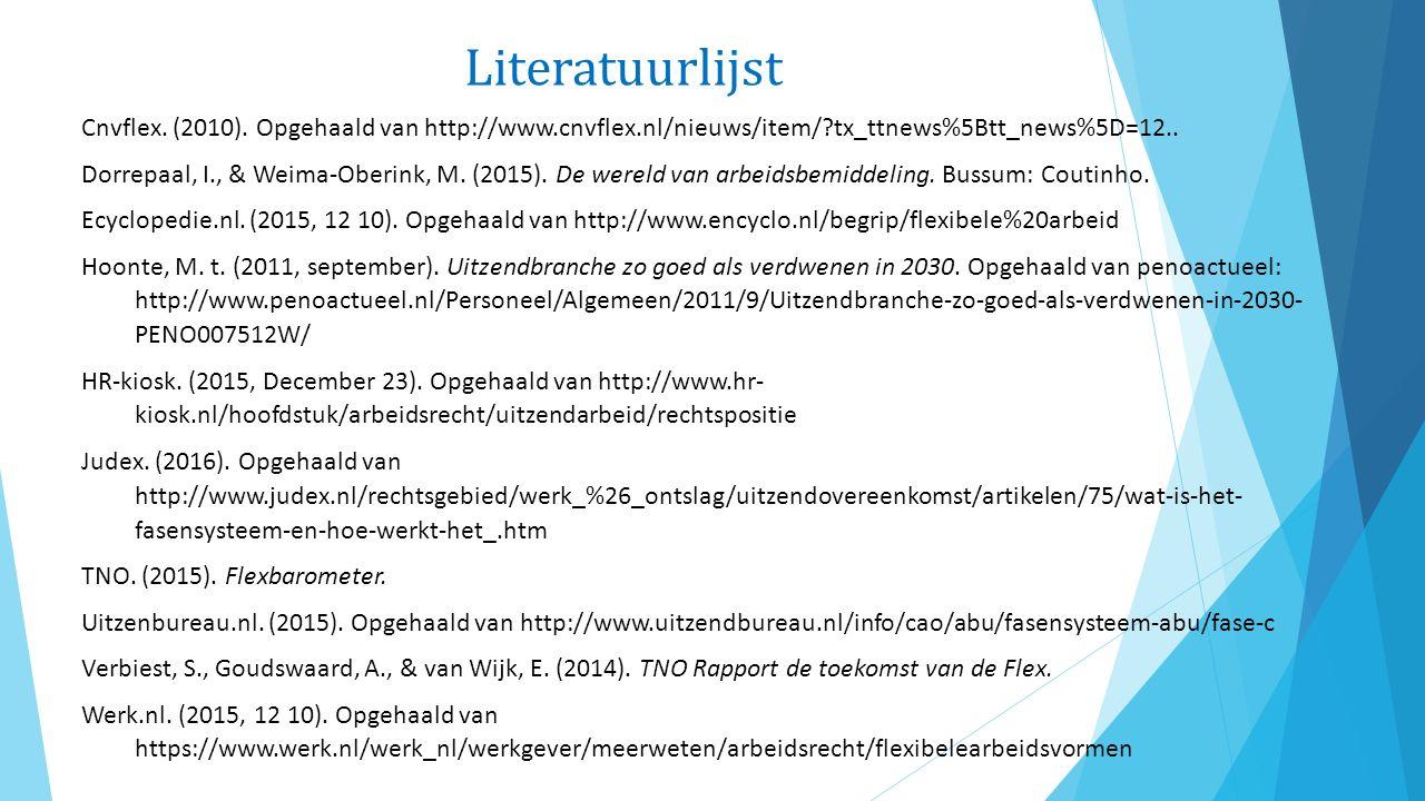 Literatuurlijst Cnvflex. (2010).