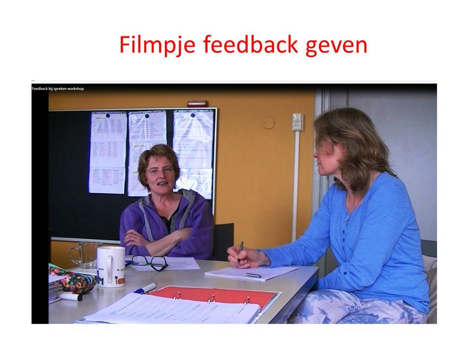 Filmpje feedback geven