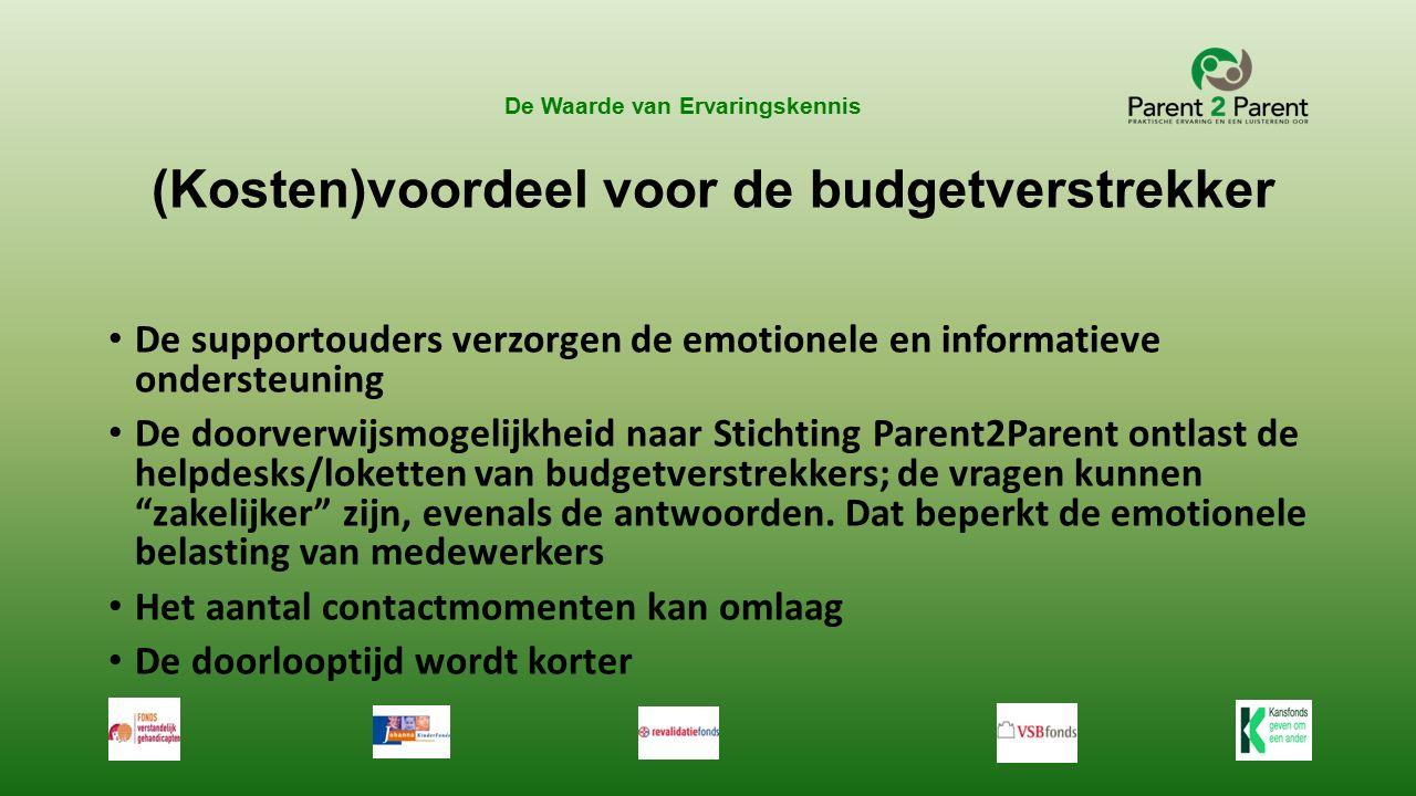 De Waarde van Ervaringskennis Wat zou u nu als eerste doen als u in de schoenen van het bestuur van Stichting Parent2Parent stond?