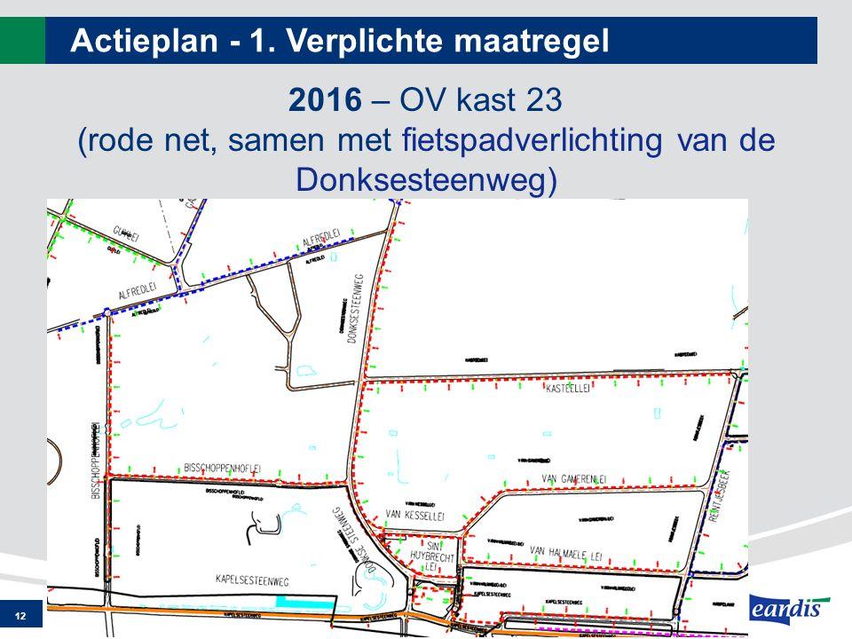 Actieplan - 1. Verplichte maatregel 12 2016 – OV kast 23 (rode net, samen met fietspadverlichting van de Donksesteenweg)