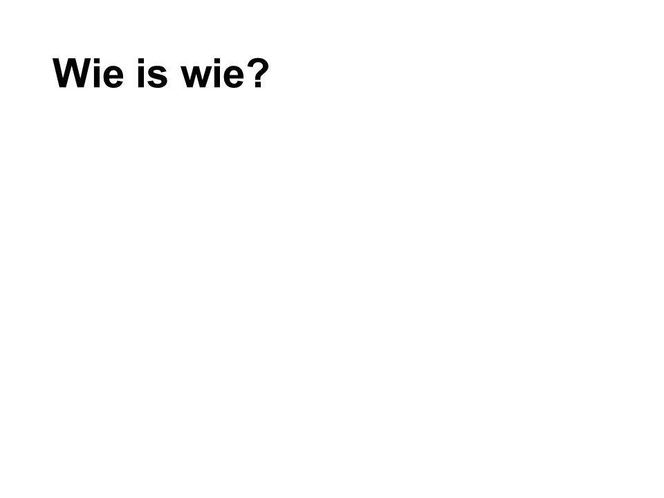 Wie is wie?