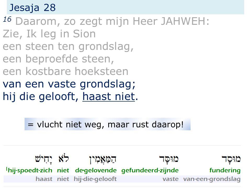 de voorzegging in Jesaja 28 1 de voorzegging in Jesaja 8 2 Paulus commentaar in Romeinen 9/10 3