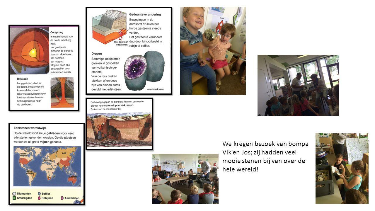 We kregen bezoek van bompa Vik en Jos; zij hadden veel mooie stenen bij van over de hele wereld!