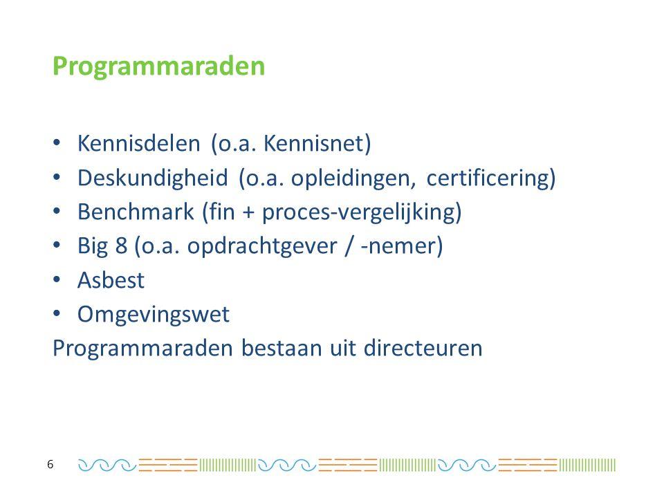 Programmaraden Kennisdelen (o.a. Kennisnet) Deskundigheid (o.a.