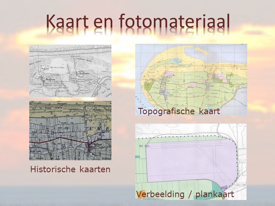 Historische kaarten Verbeelding / plankaart Topografische kaart