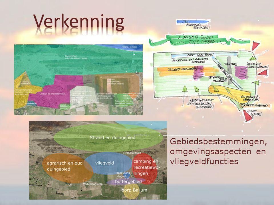 Gebiedsbestemmingen, omgevingsaspecten en vliegveldfuncties