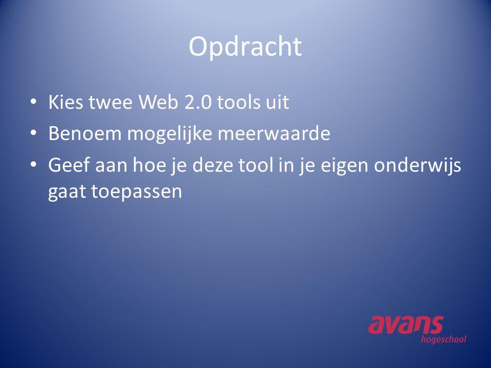 Kies maar: Blogger Wordpress Wetpaint Myspace Youtube Metacafe Del.icio.us Digg Furl Twitter Flickr