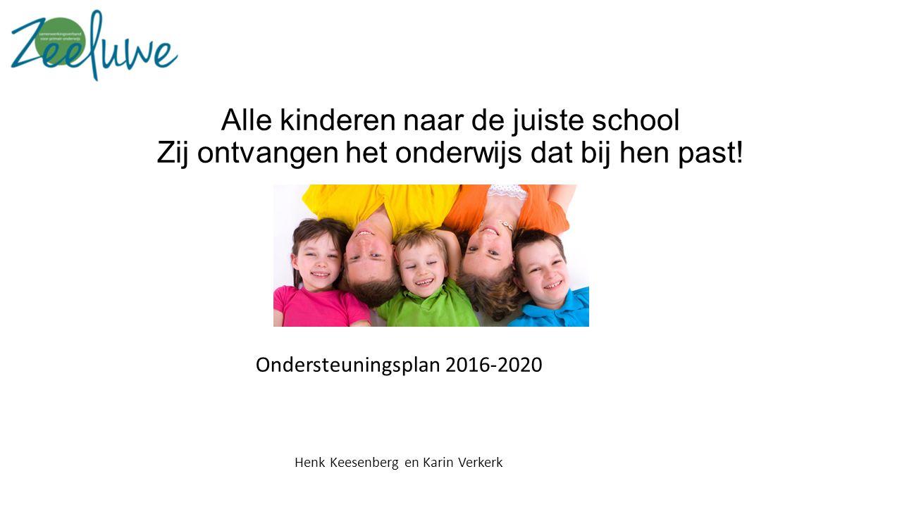 Alle kinderen naar de juiste school Zij ontvangen het onderwijs dat bij hen past.