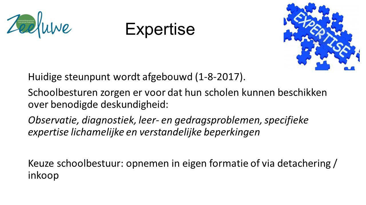 Expertise Huidige steunpunt wordt afgebouwd (1-8-2017).