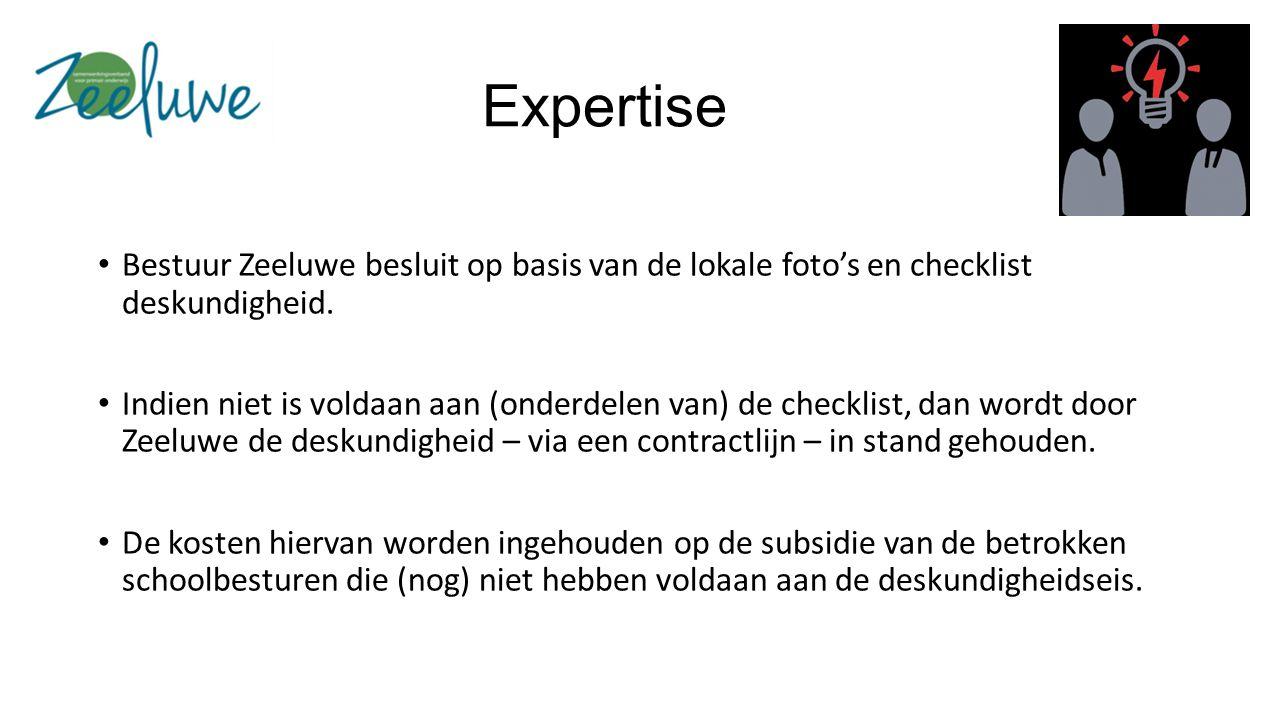 Expertise Bestuur Zeeluwe besluit op basis van de lokale foto's en checklist deskundigheid.