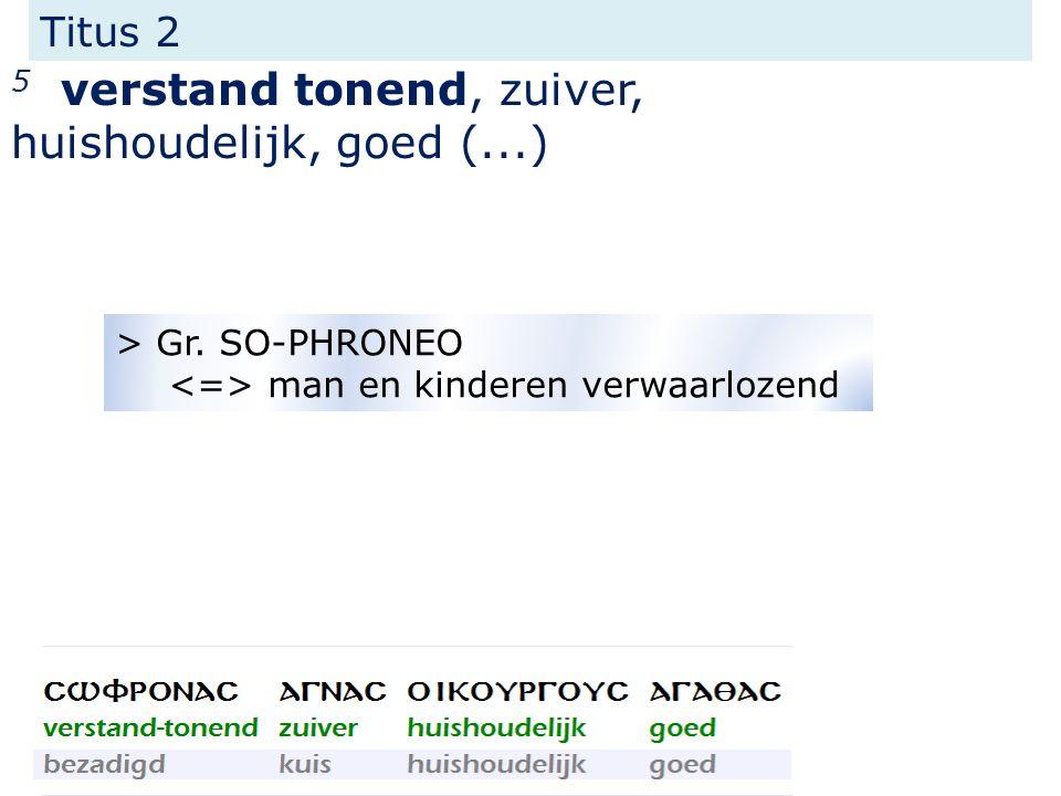 Titus 2 5 verstand tonend, zuiver, huishoudelijk, goed (...) > Gr.