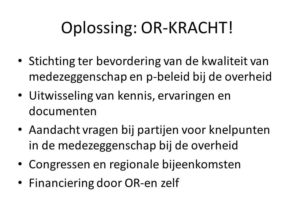 Oplossing: OR-KRACHT.