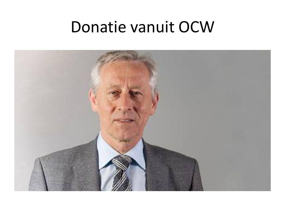 Donatie vanuit OCW