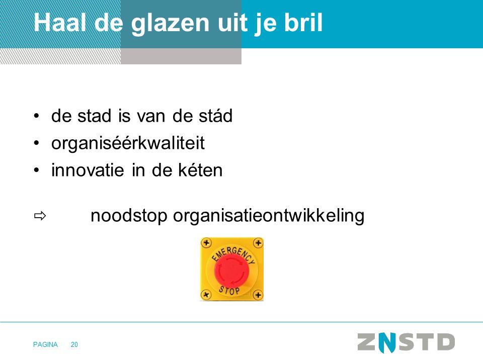 PAGINA20 Haal de glazen uit je bril de stad is van de stád organiséérkwaliteit innovatie in de kéten  noodstop organisatieontwikkeling