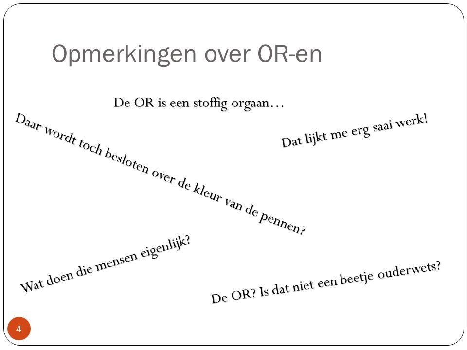 Opmerkingen over OR-en 4 De OR. Is dat niet een beetje ouderwets.
