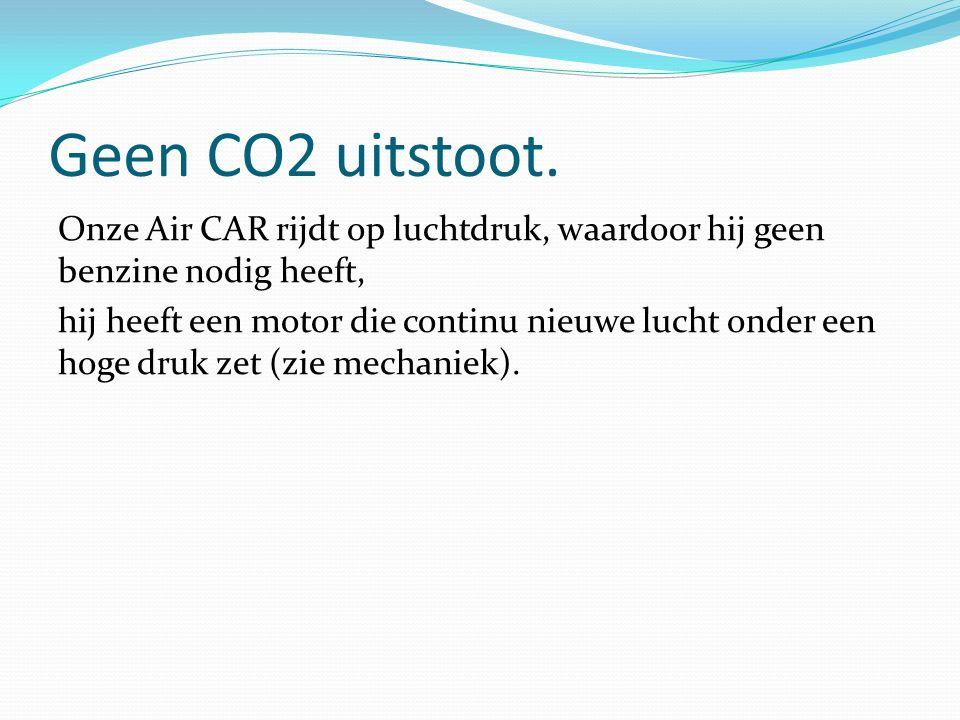 Geen CO2 uitstoot.