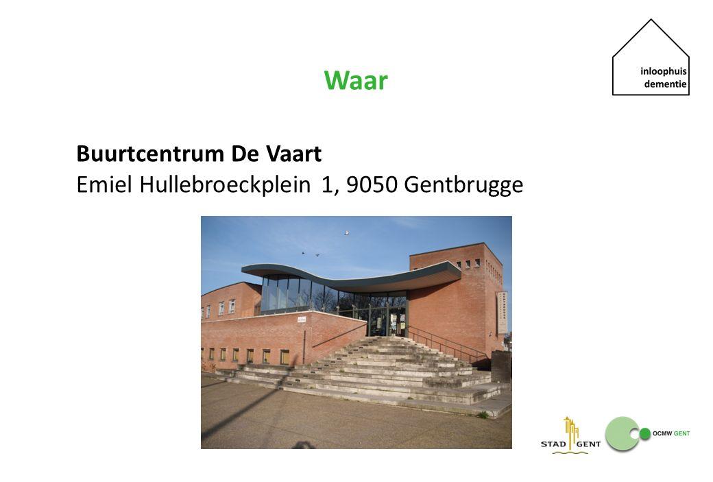 Waar Buurtcentrum De Vaart Emiel Hullebroeckplein 1, 9050 Gentbrugge