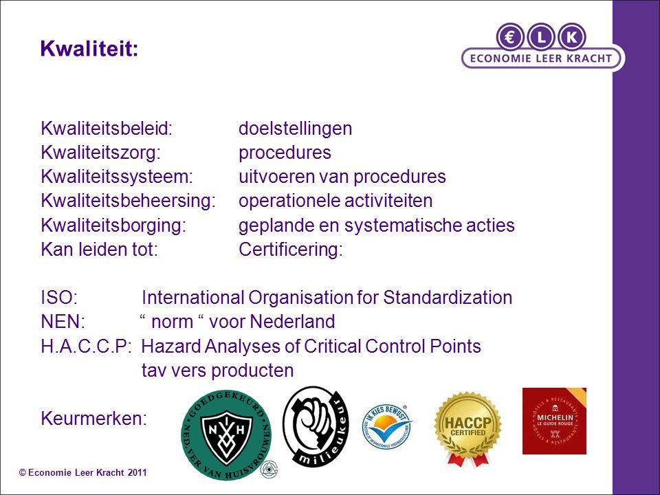 Kwaliteit: Kwaliteitsbeleid:doelstellingen Kwaliteitszorg:procedures Kwaliteitssysteem:uitvoeren van procedures Kwaliteitsbeheersing:operationele acti