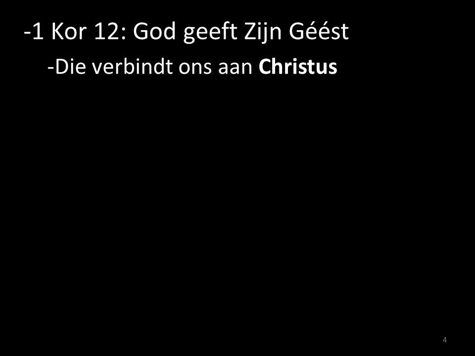 -1 Kor 12: God geeft Zijn Géést -Die verbindt ons aan Christus 4