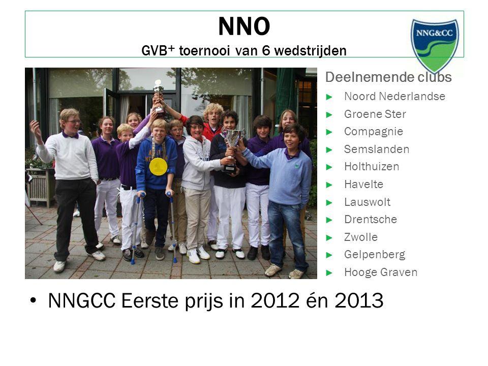 NNO GVB + toernooi van 6 wedstrijden NNGCC Eerste prijs in 2012 én 2013 Deelnemende clubs ► Noord Nederlandse ► Groene Ster ► Compagnie ► Semslanden ►