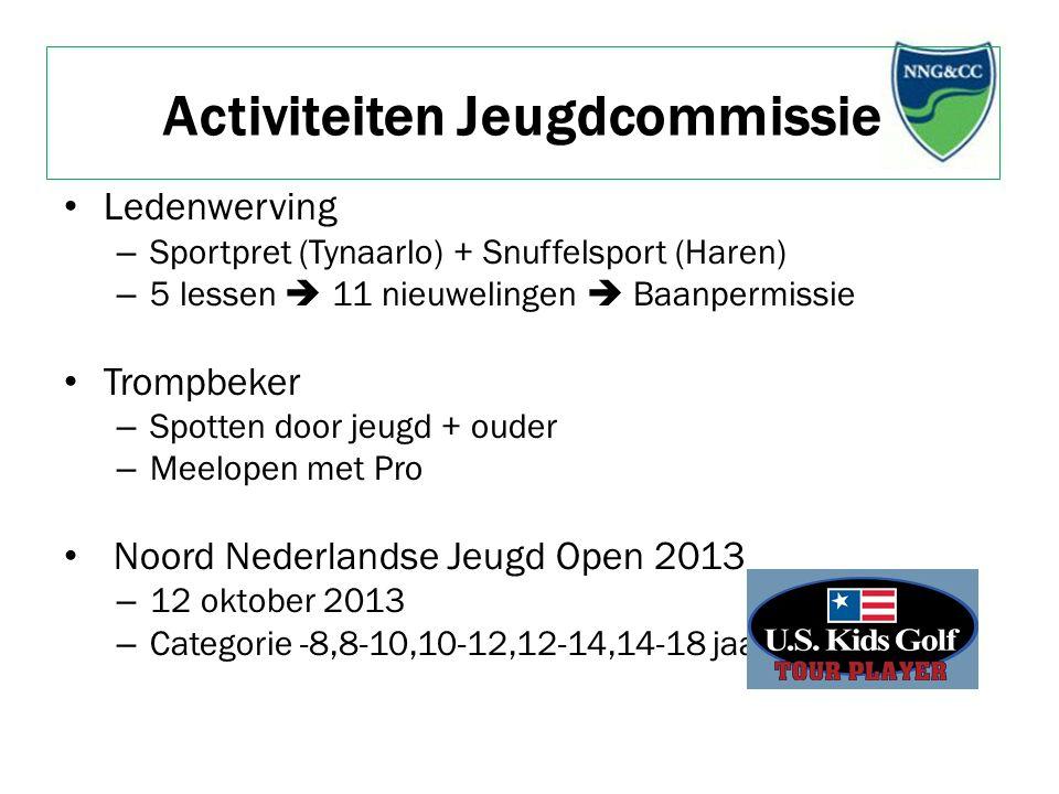 Activiteiten Jeugdcommissie Ledenwerving – Sportpret (Tynaarlo) + Snuffelsport (Haren) – 5 lessen  11 nieuwelingen  Baanpermissie Trompbeker – Spott