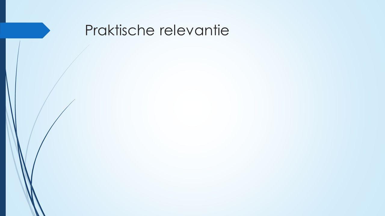 Praktische relevantie