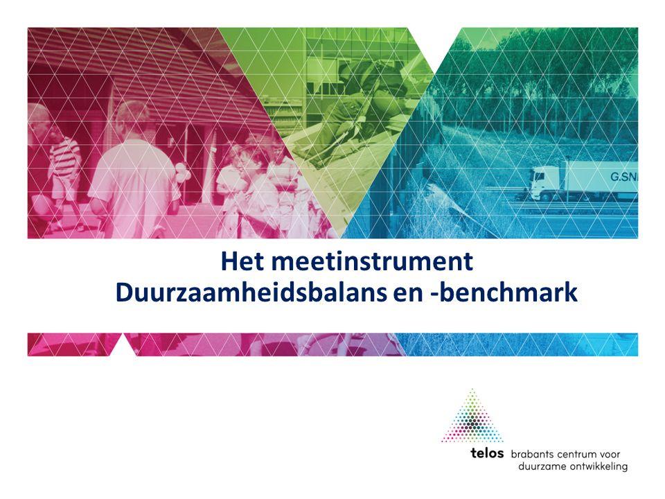 Het meetinstrument Duurzaamheidsbalans en -benchmark