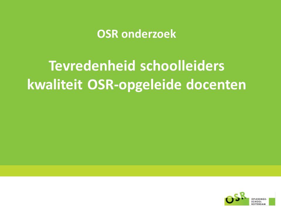 OSR onderzoek Tevredenheid schoolleiders kwaliteit OSR-opgeleide docenten