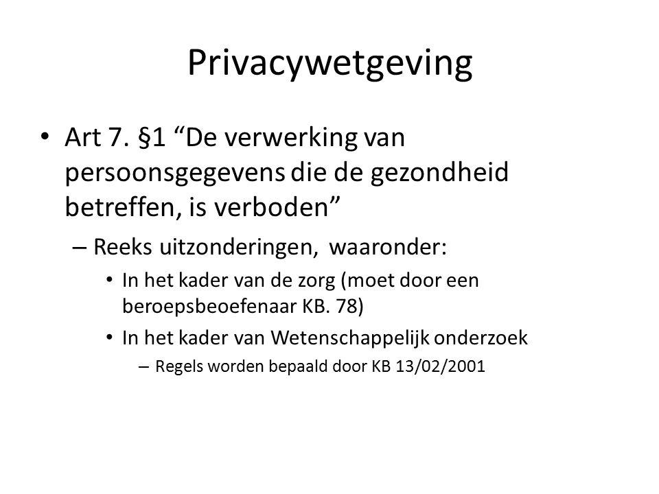 Privacywetgeving Art 7.