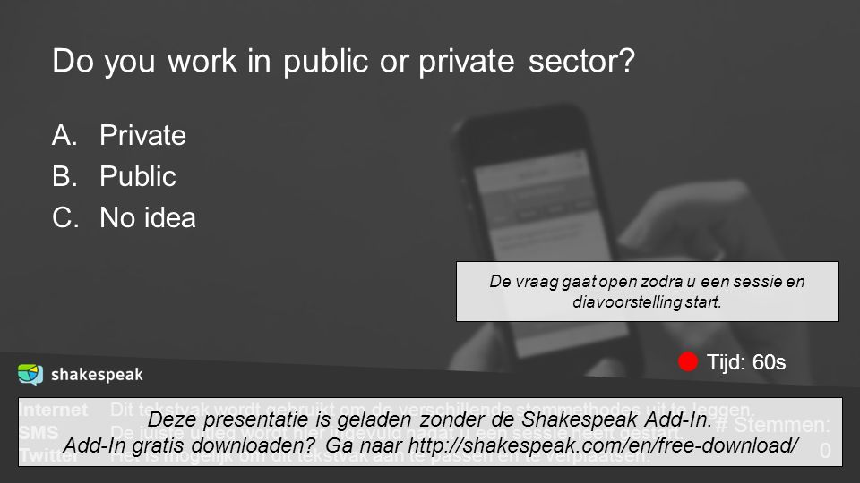 Do you work in public or private sector.