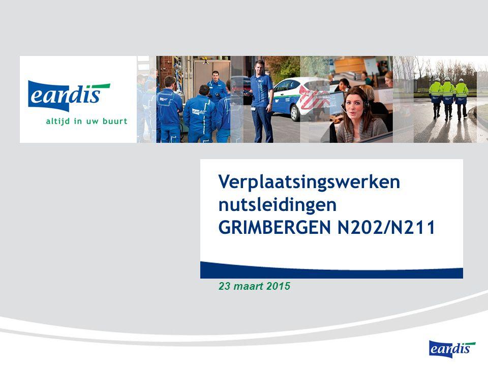 Verplaatsingswerken nutsleidingen GRIMBERGEN N202/N211 23 maart 2015