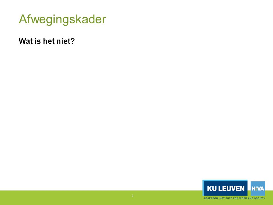 Enkele voorbeelden 20 Doel = betaalbaarheid / gelijke kansen Huurprijs en subsidies sociale huurders, Vlaanderen, 2013 Bron: Winters e.a., 2016