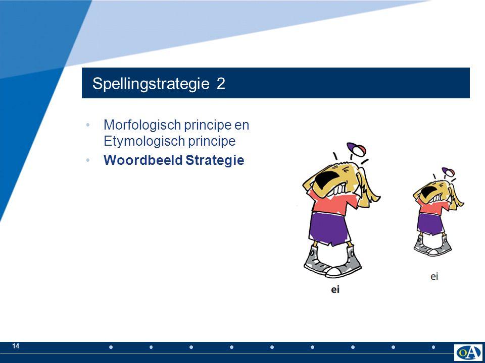 13 Spellingstrategie 1 Fonologisch principe Fonologische strategie