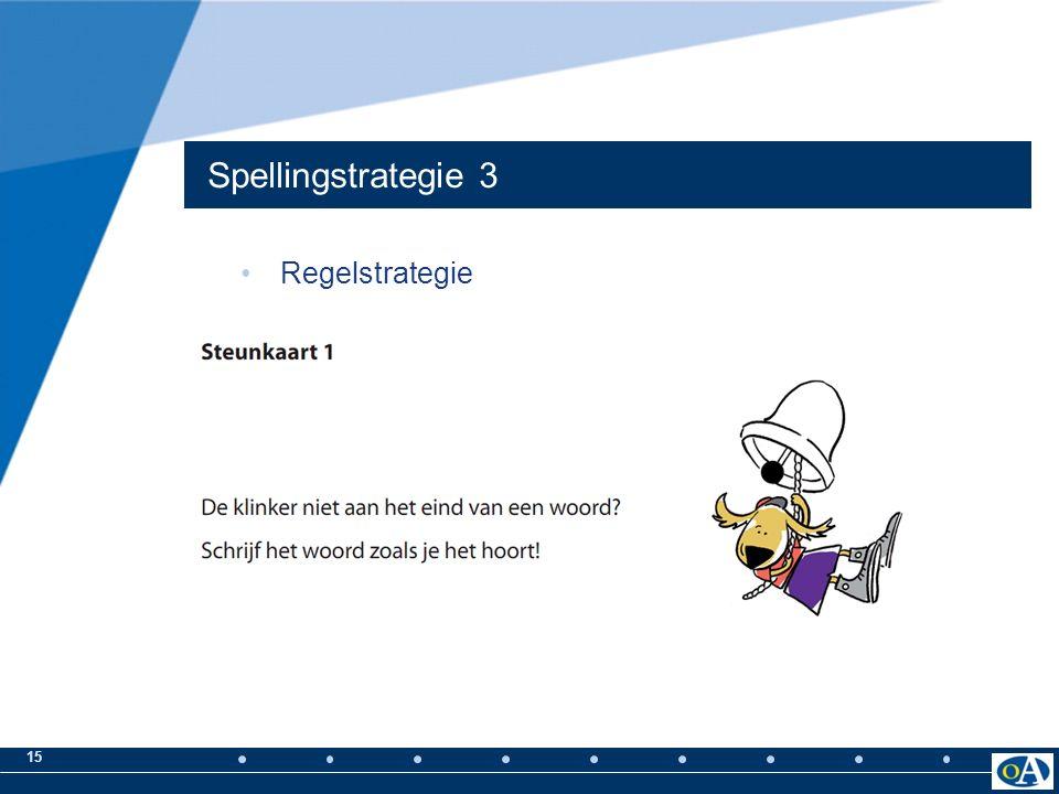 14 Spellingstrategie 2 Morfologisch principe en Etymologisch principe Woordbeeld Strategie