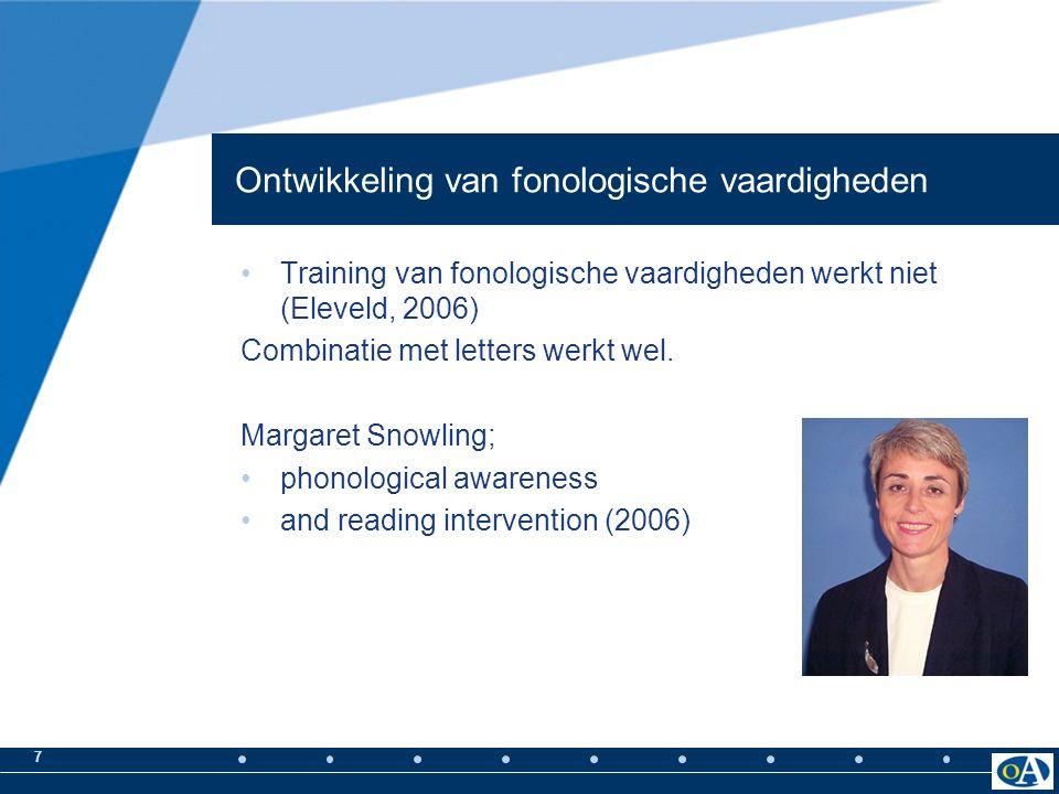 6 Samenvattend; Mensen met dyslexie; hebben een probleem bij de waarneming en verwerking van spraakklanken!