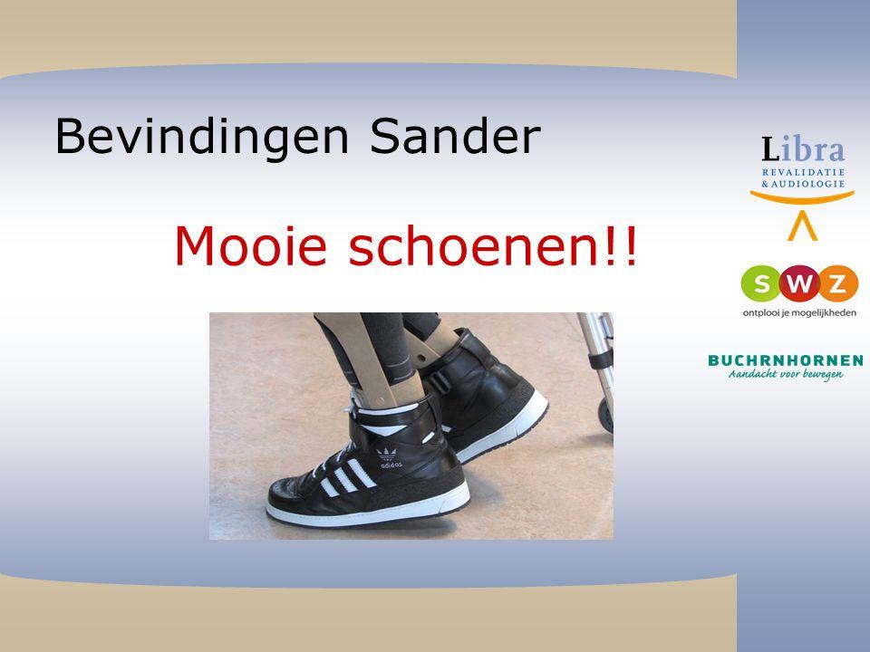 Bevindingen Sander Mooie schoenen!!